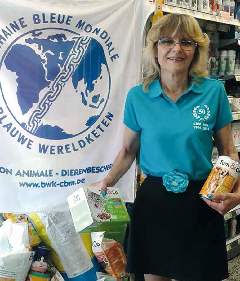 Une de nos bénévoles au travail dans une filiale de Tom & Co